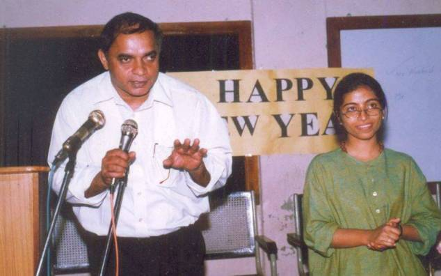 An old photo of Sunitha Krishnan with brother Varghese Theckanath