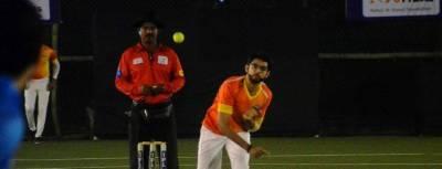 Aditya Thackeray playing cricket