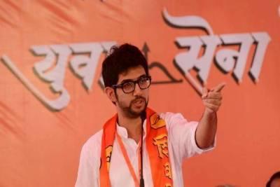 Aditya Thackeray at a rally of Yuva Sena