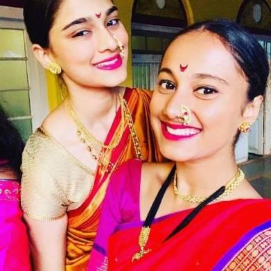 Saiee Manjrekar with her half-sister Gauri Ingawale