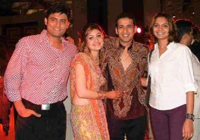 Shefali Jariwala with Harmeet