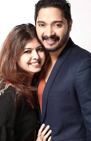 Deepti Talpade with Shreyas Talpade
