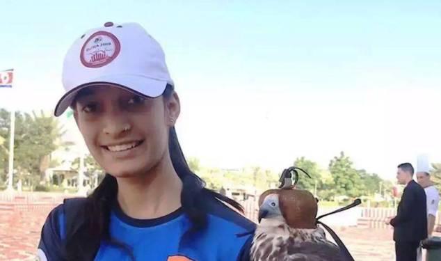Chinki Yadav at the 14th Asian Championships, held in Doha