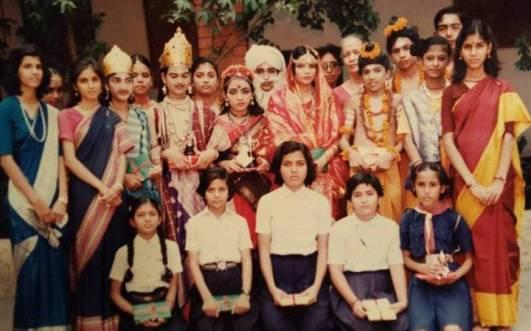 Sakshi Tanwar at school