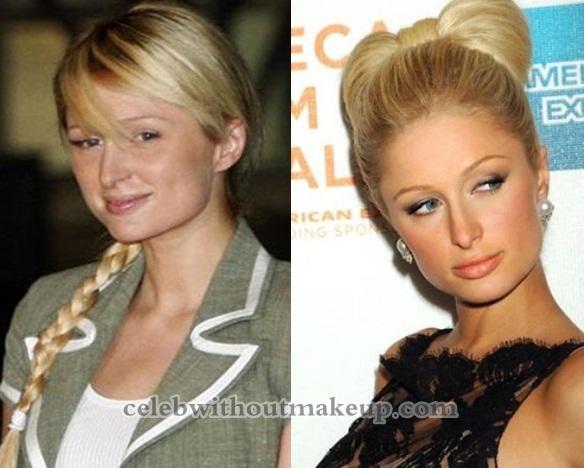 Paris Hilton Makeup On