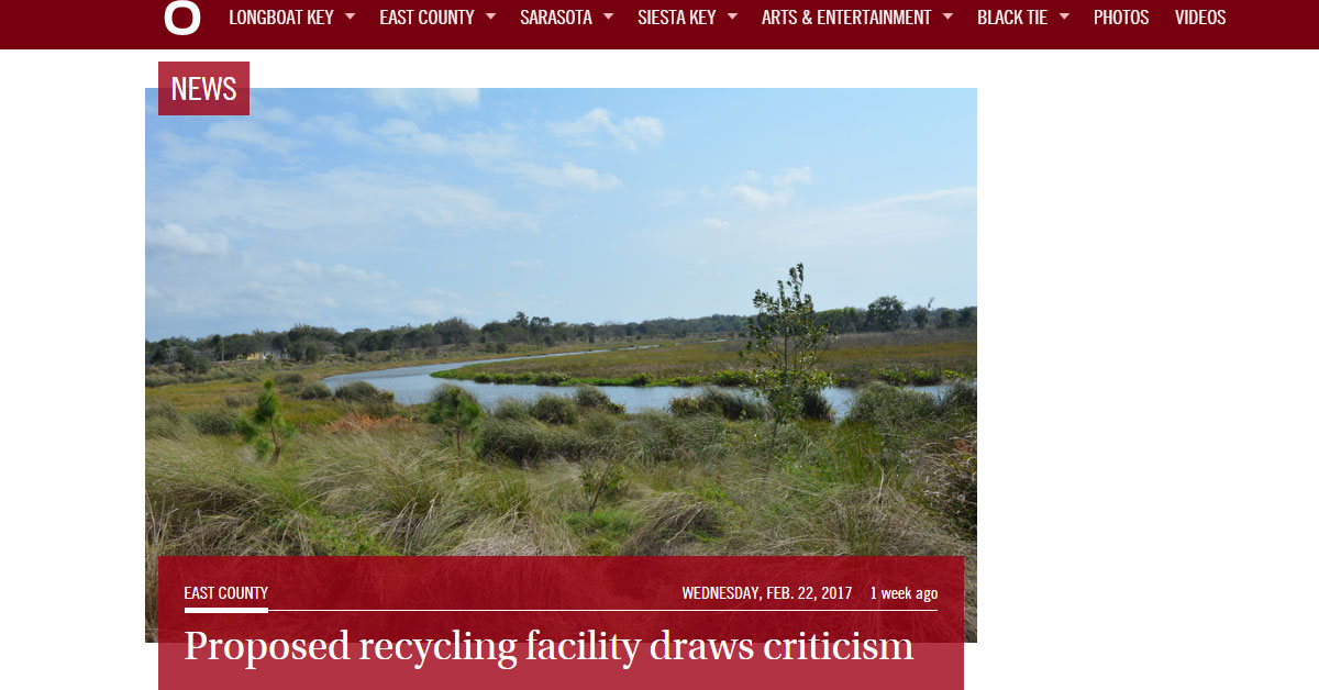 East County Observer: Proposed Recycling Facility Draws Criticism