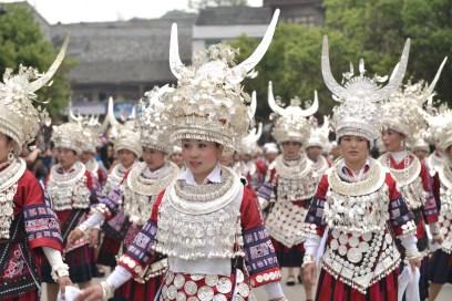 Parade in Sisters Fesival in Guizhou