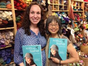 Celeste and Pearl at Knitty City Book Signing