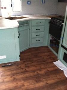 Camper renovation - new Allure flooring