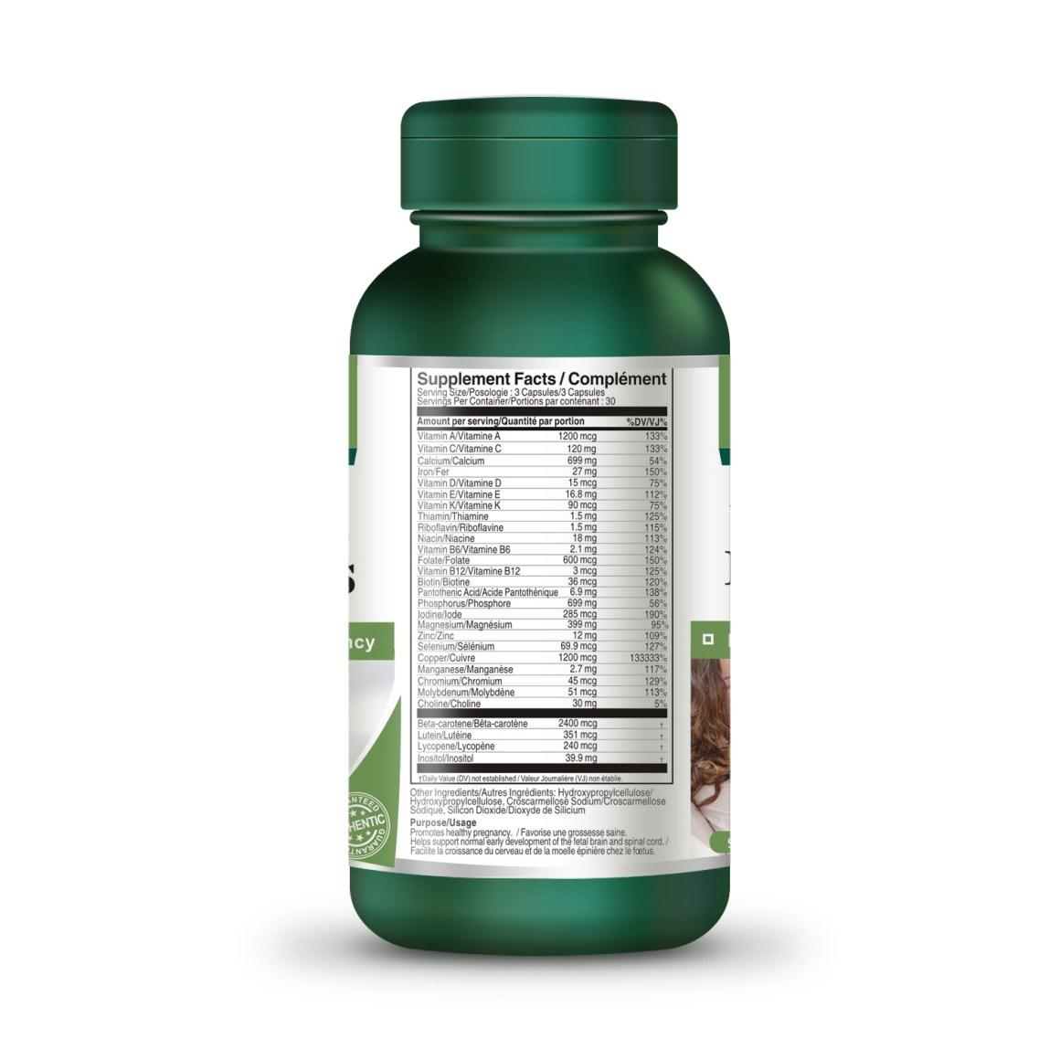 Prenatal Vitamins 90 Capsules