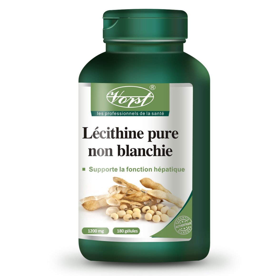 Pure Lecithin Unbleached Non-GMO 1200mg 180 Softgels