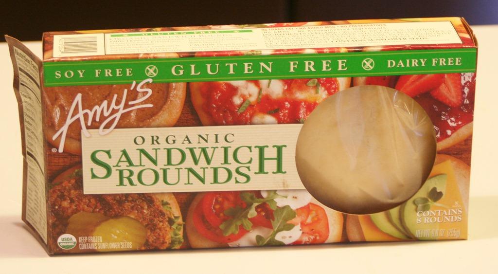 Review: Amy's Kitchen Gluten-Free Sandwich Rounds - Celiac ...