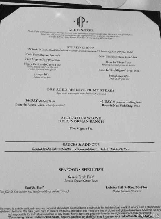 Hyde Park Pittsburgh >> The Hyde Park Prime Steakhouse Gluten Free Celiac Disease