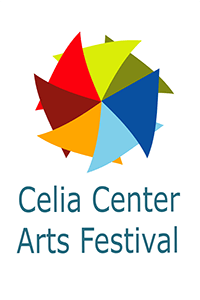 colorful pinwheel and text Celia Center Arts Festival