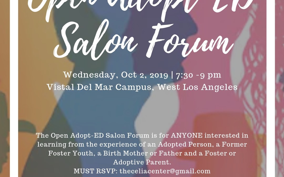 Open Adopt-ED Salon Forum – Open to the Public – Educating 1 person at a time! October
