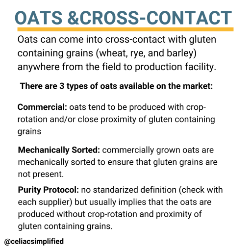 Oats and Cross-Contact