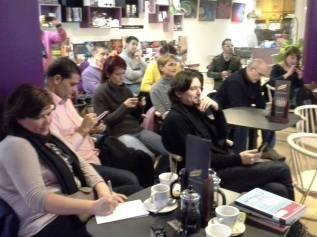 Los asistentes a la presentación de Motívate y Emprende