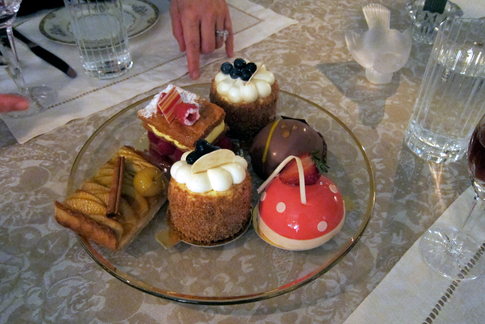 A selection of pastries from Pierrot Gourmet