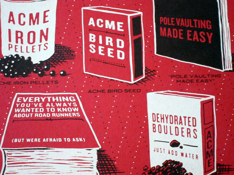 Detail of Rob Loukotka's Acme Corporation poster