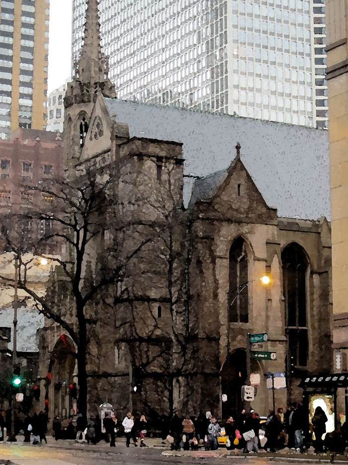 Fourth Presbyterian Church (before Christmas), © 2013 Celia Her City
