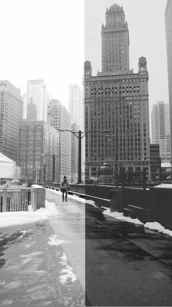 Cold weather Chicago (35 East Wacker), © 2014 Celia Her City