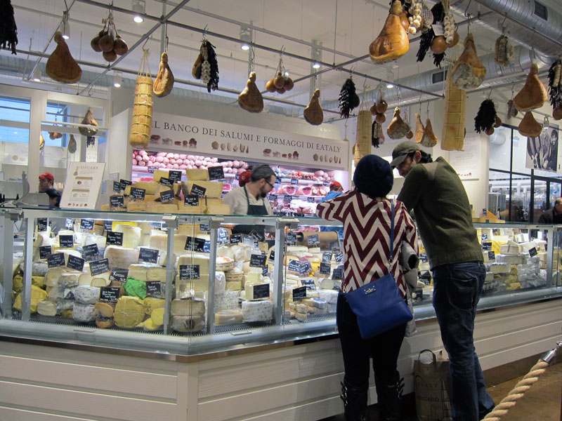 Eataly meat and cheese counter, Chicago