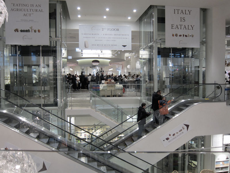 Eataly in Chicago (view of the second floor)