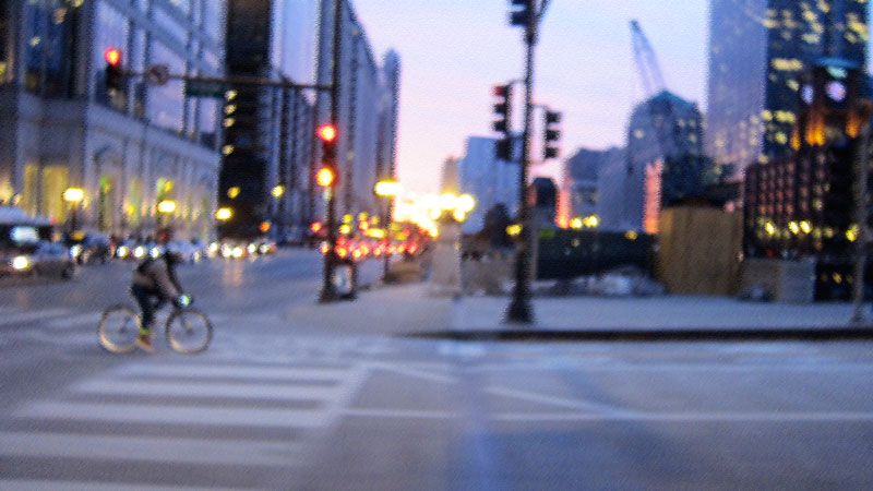 The winter biker (Chicago), © 2014 Celia Her City