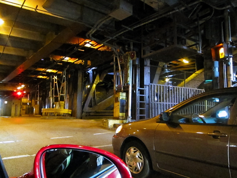 A view of Lower Wacker Drive (in Chicago)