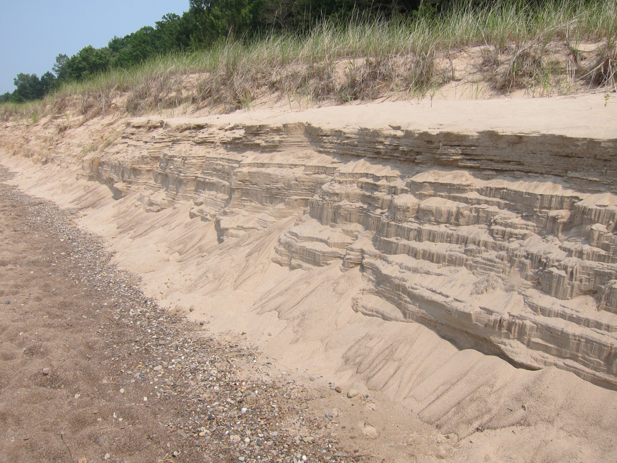 The winter eroded many of Michigan's beaches.