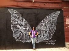Butterfly wings in Little Italy