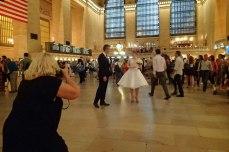 A twirling bride