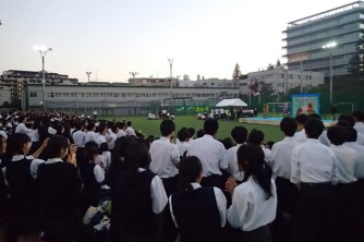 After party on the sports field