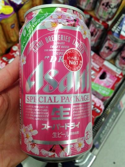 Asahi beer sakura packaging