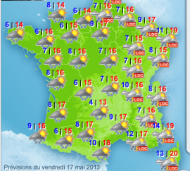 France weather map