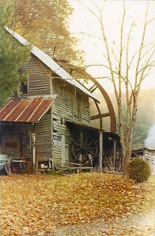 Morgan Mill - above, outside Brevard, NC; (no longer exists)