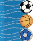 Dugnad med bursdagskort fotball og håndball