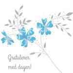 Nydelig blomst med sølv trykk. Dugnader for russ, klassetur og idrettslag. Dugnadskort med høy inntjening