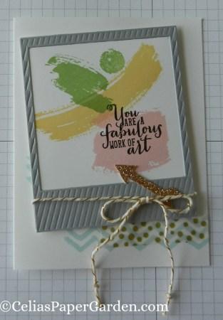 work of art, photo framelit, celiaspapergarden, washi, card idea