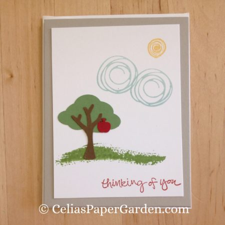 Celia's Paper Garden builder punch swirly bird friend card