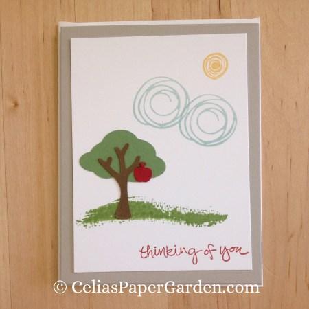 Celia's Paper Garden builder punch swirly bird friend card