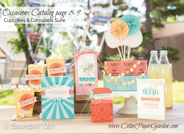 Cupcakes & Carousels Stampin' Up! Birthdays