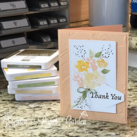 Hand Penned Petals Card Sketch