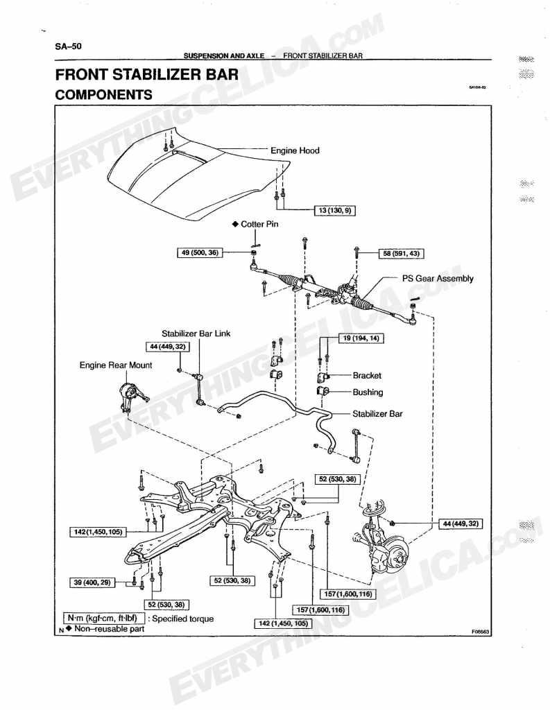 hight resolution of sway bar part diagram