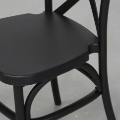 Folding Chair Foot Caps Office No Wheels Uk Dover Black Resin Cross Back - Stackable Chairs
