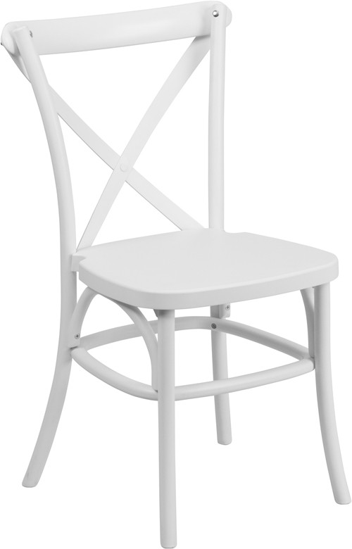 cross back dining chairs white pink student desk chair dover resin - stackable