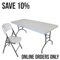 Folding Chair Desk Combo Target Accent Chairs Mayfield And Six 6 Resin Banquet Table Set Tables Deals
