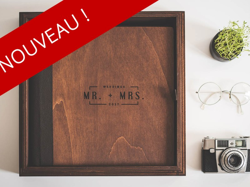 photographe mariage livre photo haut de gamme luxe bois coffret