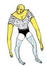 """""""Les hanches étroites et les cheveux si fin qu'ils sont presque invisible"""""""