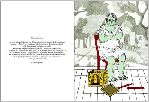 """Chapitre """"La chienne"""", pages 70-71"""